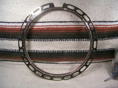 Gibson style banjo ONE PIECE FLANGE. HEAVY construction. VERY NICE. NICKEL