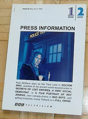 BBC Press Information THE DOCTOR WHO TV MOVIE 1996 Paul McGann Eric Roberts Pack