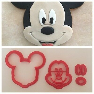 Cookie Cutter 3D Mickey Mouse Topolino Disney Formina Biscotti 9cm
