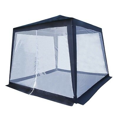 ALEKO Gazebo With Mosquito Net Picnic Party Sun Shade 8X8 Ft Blue With White Net