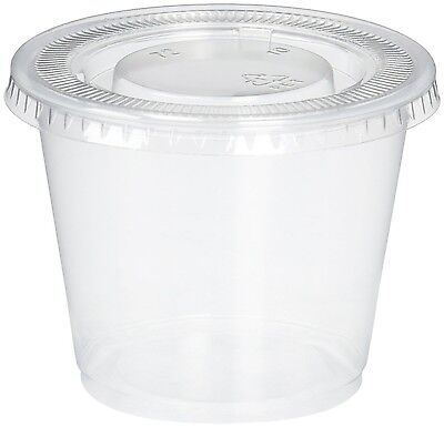 Reditainer Plastic Disposable Portion Cups 5.5-Ounce Translucent 5.5 Ounce