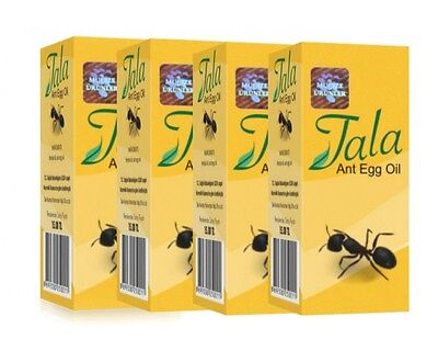 5x New Original Tala Ant Egg Oil -Permanent Hair Removal, Reducing, Natural Oil