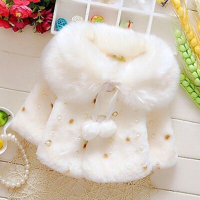 Baby Girls Winter Fur Coats 6-12months