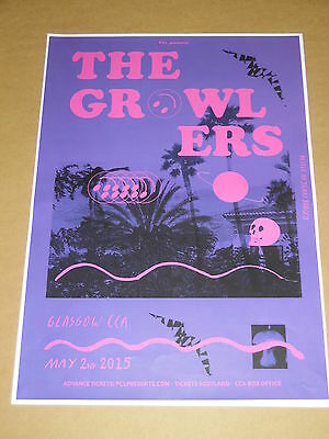THE GROWLERS - rare UK live music tour concert / gig poster - may 2015