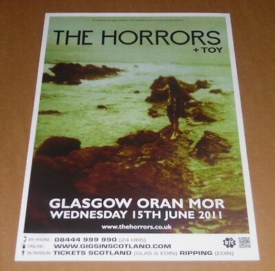 The Horrors + Toy - rare tour concert / gig poster - june 2011