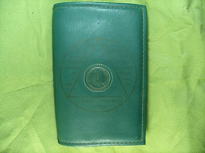 Vintage AA Alcoholics Anonymous Synthetic Leather Twelve Steps Book Cover
