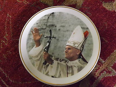 Vintage Pope John Paul Ii Plate Christianity Religious Plate Papal Vatican City