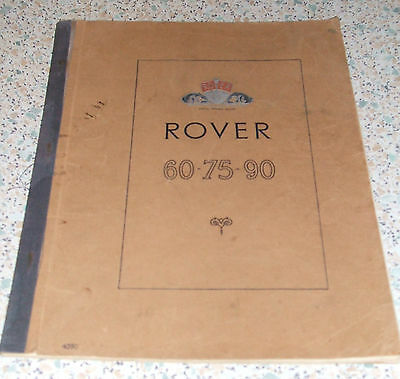 Rover 60 75 90 P4 Owner's Instruction Manual