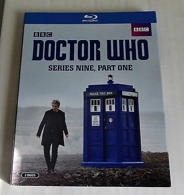 Doctor Who Series 9 Part One Blu-Ray Slipcover Only! No Discs Or Cases Included!