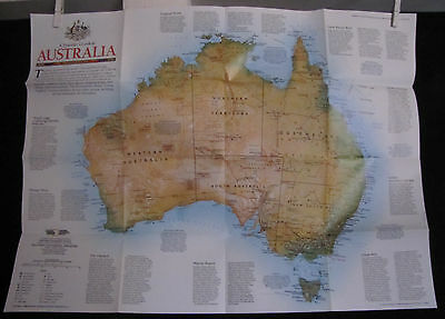 1988 National Geographic - Australia Map - 21x27 inches