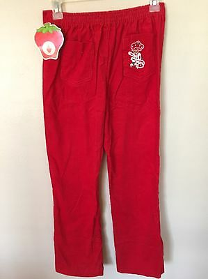 Vintage Strawberry Shortcake Pants Red Corduroy NOS 1980 NWT Dobie Originals