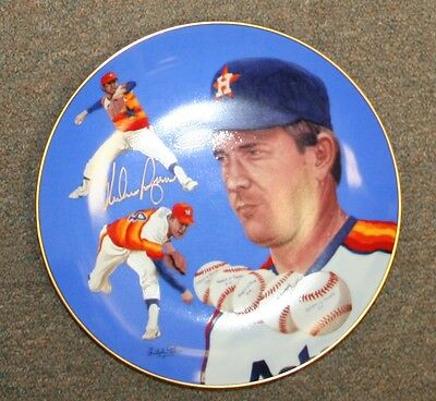 Nolan Ryan Signed Autographed 5th No Hitter Plate PSA/DNA Z22253 Houston Astros