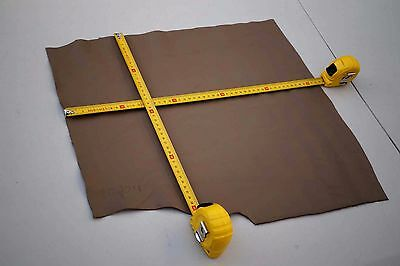 Light Brown Cowhide Elmo Upholstery Leather Piece  52 x 40cm Semi-Anilin soft