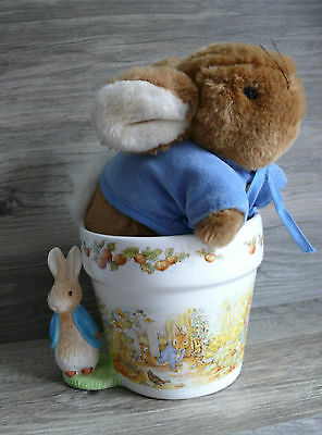 Beatrix Potter Storage Pot Container & Bunny Eden Frederick Warne Plush Rabbit