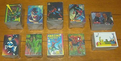 Marvel Complete Set Lot (10 Different) Marvel Masterpieces/Universe/Spider-Man++