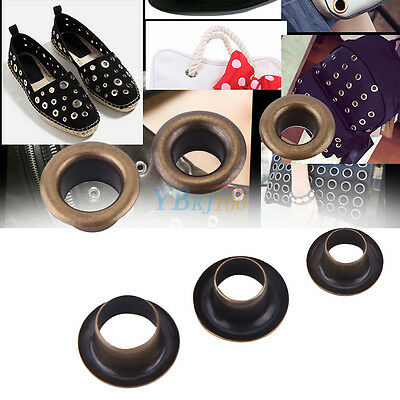 100pcs Round Metal Eyelets Grommets with Washers Set fr Leather Craft DIY Sewing