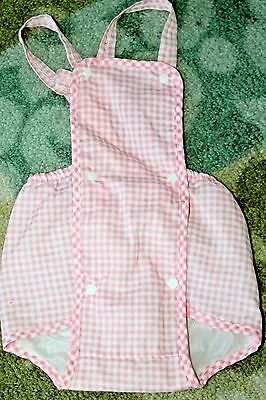 Vintage Lily Kids Pink Gingham One-Piece Romper 9Month Baby Girl EUC!