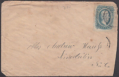 Confederate CSA Cover with Target Cancelled #11 Stamp