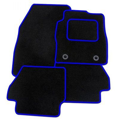 Ford Mondeo Mk4 2007-2013 TAILORED CAR FLOOR MATS- BLACK WITH BLUE TRIM