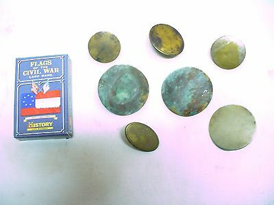 Civil war era antique unearthed belt buckles, unmarked,  see pics / Colonial?
