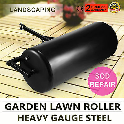 Versatile Garden Push/Tow Lawn Roller Water Filled Heavy Duty Gauge Steel GOOD