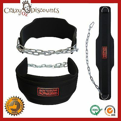 Dipping Belt Pro Body Building Weight Dip Lifting Chain Gym Plate Training Heavy