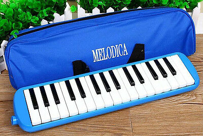 Melodica Australian Keyboard Piano 32 Key Blow Organ Melody Horn Wind Carry Case