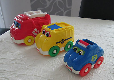 Lot 3 véhicules Fisher Price