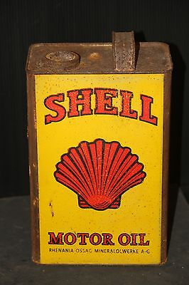 SHELL 1 GALLON OIL CAN garage gas service station advertising trade sign REPRO