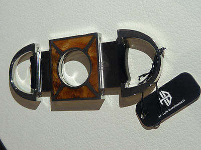 Hollis Bahringer Maplewood stainless steel cigar cutter punch