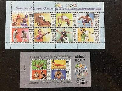 Iraq November 2016 Olympic Games Rio Brazil Stamps MNH Set