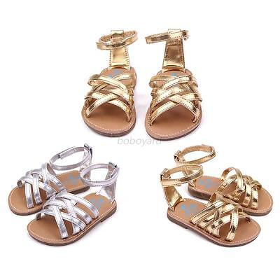 Fashion Infant Girls Summer Sandals Toddler Baby Princess Soft Sole Shoes 0-12M