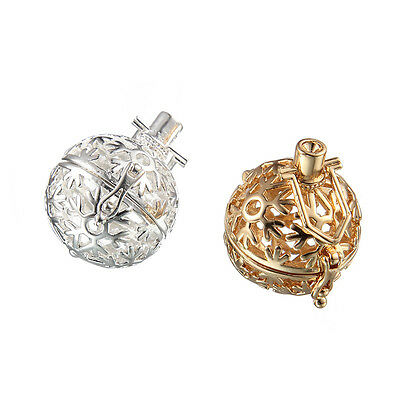 1pcs New DIY Snow Hollow Ball Silver&Gold Alloy Charms Pendant  Fit Necklace