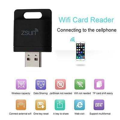 ZSUN Mobile Phone Extend Disk Wifi Wireless Memory Card Reader For iPhone 6 YA
