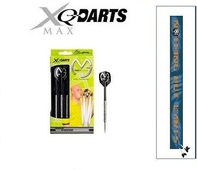 Michael van Gerwen XQMAX 90% Tungsten Steel Tip Darts 21g (Bonus Flights)