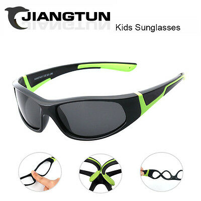 JIANGTUN Super Light Kids Sunglasses Polarized Children Outdoor Safety