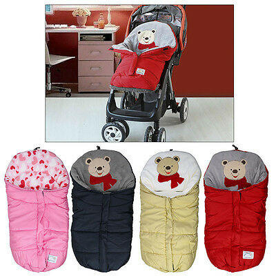 New Cartoon Baby/Infant Winter Swaddle Blanket Wraps/Sleeping Bag Trolley Winter