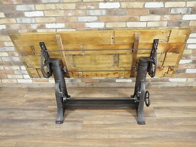 Retro Industrial vintage cast iron dining table adjustable height tilt top table