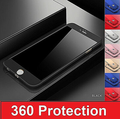 Hybrid 360° Shockproof Case Tempered Glass Cover For Apple iPhone 7 5s 6s 7 Plus