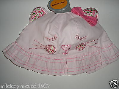 New Baby Girls Novelty Pink  Sun Hat age 3-6 months Away 26th june-5th july