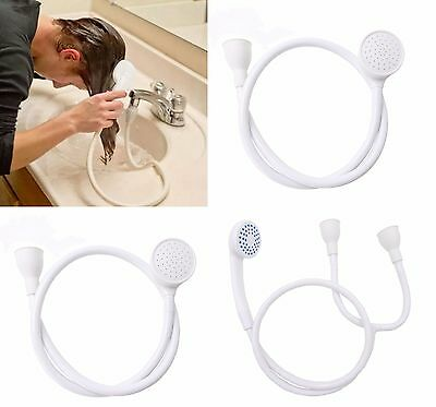 Single Double Tap Spray Hose Connector Bath Shower Rubber Bathroom Mixer Head