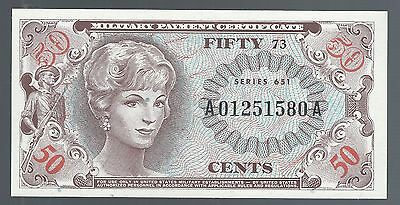 Series 651 Military Payment Certificate 50 Cents GEM UNC