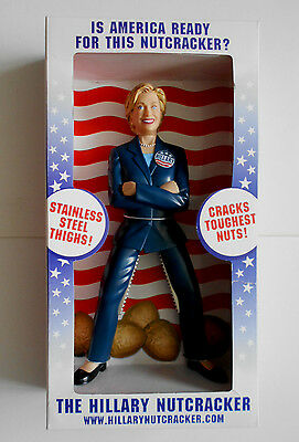 HILLARY CLINTON collectable novelty nutcracker EAGLEVIEW 2007 new and boxed
