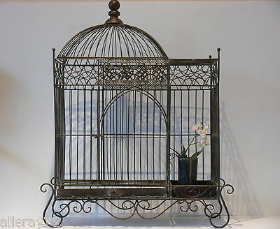FRENCH LARGE  BIRD CAGE WROUGHT IRON antique  NEW  NIB