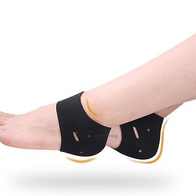 Silicone Foot Compression Sleeves Heel Swelling Relief Ankle Socks Foot Care