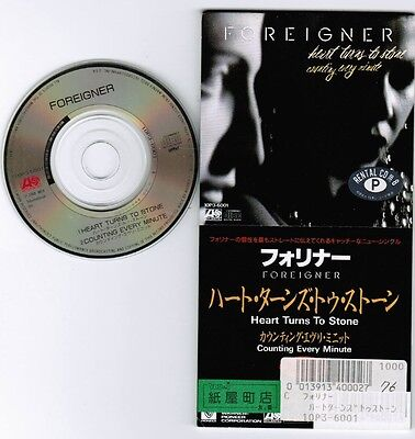 """FOREIGNER Heart Turns to Stone JAPAN 3"""" CD 10P3-6001 Former-Rental FREE S&H/P&P"""