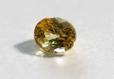1.30 Ct Natural Sapphire Ceylon Golden Yellow Color Unheated Transparent Loose