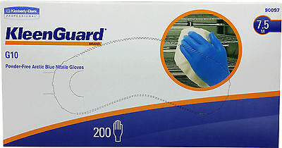 200 Kleenguard G10 Powder-Free Nitrile Disposable Gloves Arctic Blue XS, S, M
