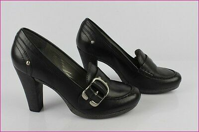Court shoes SAN MARINA Black Leather T 37 TOP CONDITION
