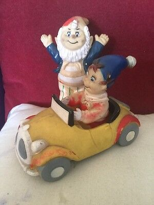 Old Noddy in a Car Rubber Figure and an Old Rubber Big Ears Figure